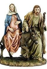 "10"" La Posada Statue Mary on Donkey Joseph"