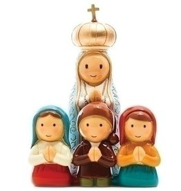 Our Lady of Fatima Apparition Statue With Children