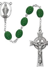 Deluxe Shamrock Rosary Boxed