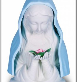 Blue Madonna With Rose Nightlight With Cord