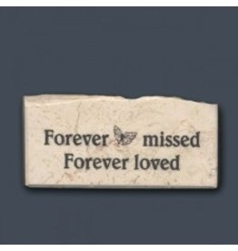"Holy Land Stone ""Forever missed - Forever loved"" Promise Stone"
