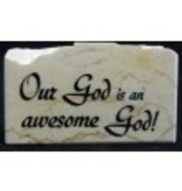 Holy Land Stone Our God is an Awesome God - Promise Stone