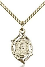 """Bliss Manufacturing Gold Filled Miraculous Medal on 18"""" Chain"""