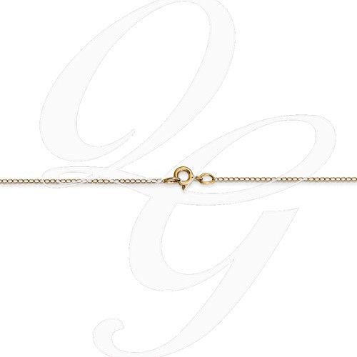 14k Yellow Gold .42 mm Carded Curb Chain 18""