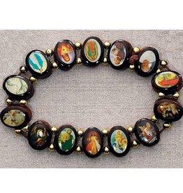 Amscan Wooden Saint Stretch Bracelet