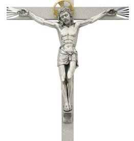 "McVan 10"" Bright Cut Metal Crucifix"