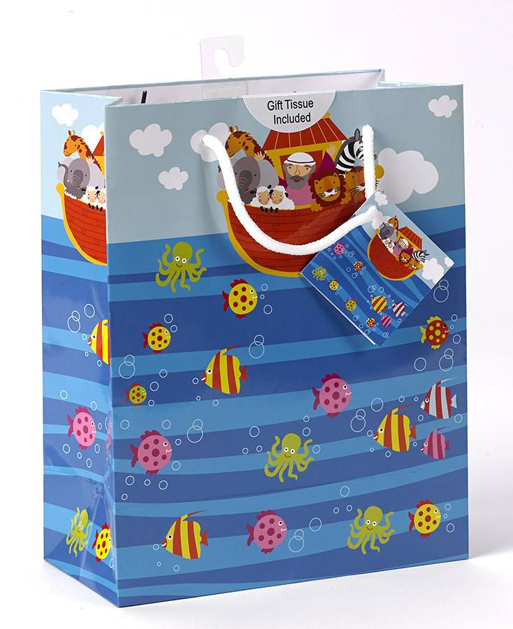 Medium Noah's Ark Gift Bag with tissue