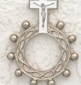 White Enamel Finger Rosary