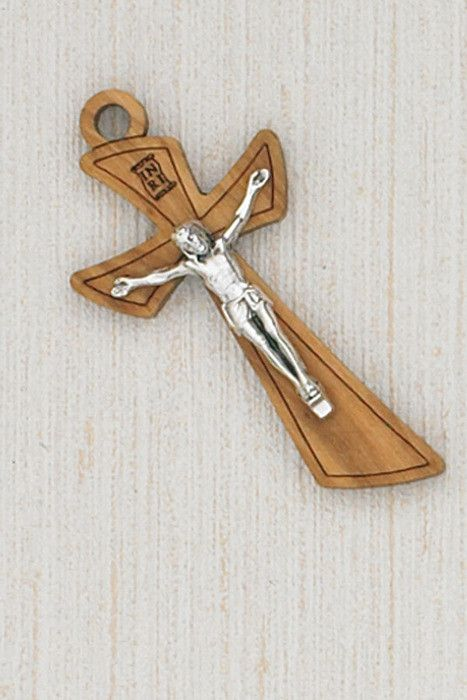 "Lumen Mundi 2"" Wood Crucifix with Card, Corded"
