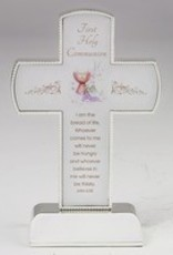 "6"" Silver Tone First Communion Cross on Silver Tone Base"