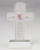 """6"""" Silver Tone First Communion Cross on Silver Tone Base"""