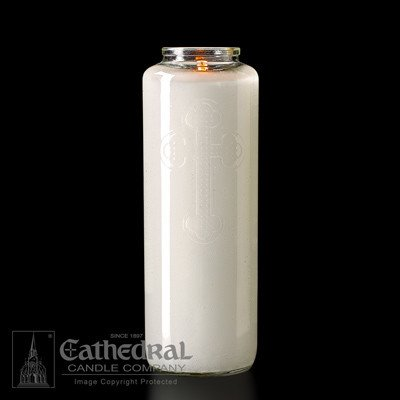 Cathedral Candle Co. 6 Day Offering Light - Crystal Glass Bottle Style