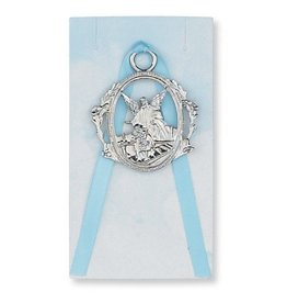 McVan Blue Ribbon Guardian Angel Crib Medal for Boy