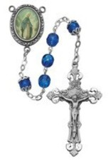 7MM Blue Our Lady of Grace Rosary