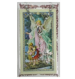 McVan Blue Guardian Angel Rosary and Prayer Card