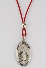 """McVan 18"""" Red Corded Divine Mercy Pendant"""