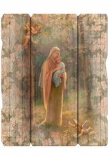 Madonna of the Woods Wooden Wall Plaque