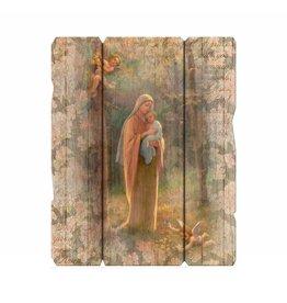 WJ Hirten Madonna of the Woods Wooden Wall Plaque