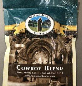 Mystic Monk Sample Coffee Cowboy Blend 2oz.