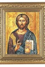 CHRIST THE TEACHER GOLD SCROLLE