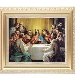 WJ Hirten Gold Framed Last Supper Picture