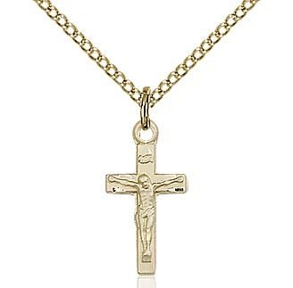 Gold Filled Crucifix Pendant on a 18 inch  Chain