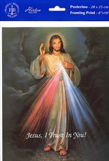 "8"" X 10"" Divine Mercy (Print Only)"