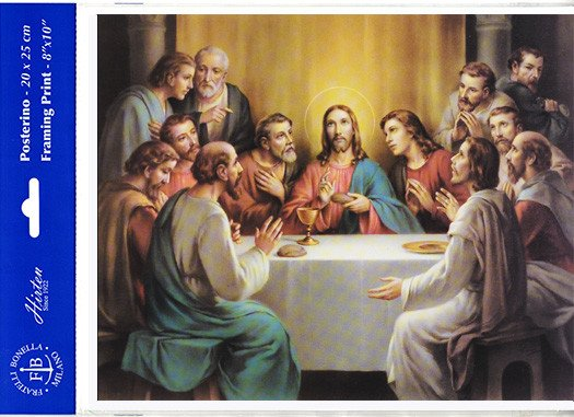 "8"" X 10"" Last Supper (Print Only) Bonella"