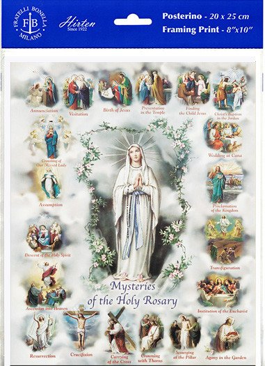 "8"" X 10"" Mysteries of the Rosary (Print Only)"