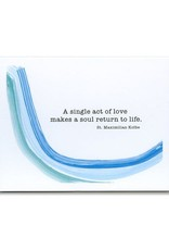 A Single Act of Love Makes a Soul Return To Life, St. Maximillian Kolbe, Thank You Pack swoosh
