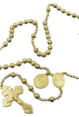Combat Rosary - Gold Tone