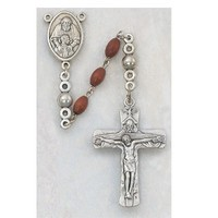 4X6MM BROWN TRINITY ROSARY