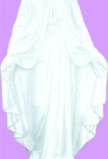 """24"""" Our Lady Of Grace - White Finish"""