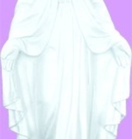 "24"" Our Lady Of Grace - White Finish"