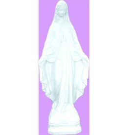 "Space Age Plastics 24"" Our Lady Of Grace - White Finish"