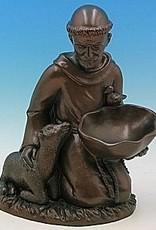 """16"""" St. Francis Birdfeeder - Bronze Finish"""