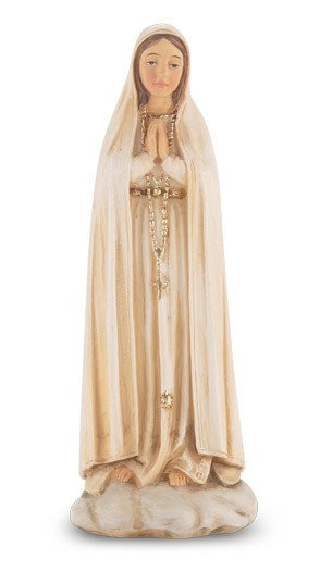 "4"" Our Lady of Fatima Statue"