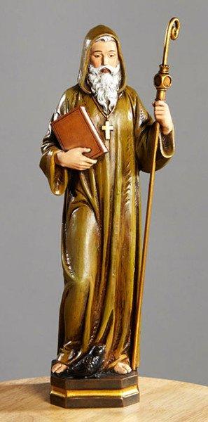 "Avalon Gallery 12"" St. Benedict Statue"