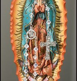 Christian Brands Our Lady of Guadalupe Resin Relic Rosary Holder