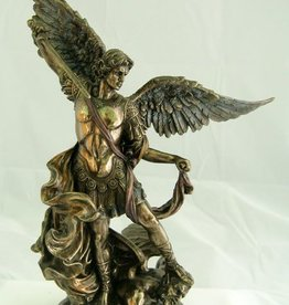 "Goldscheider of Vienna 10"" St. Michael Statue Bronze"