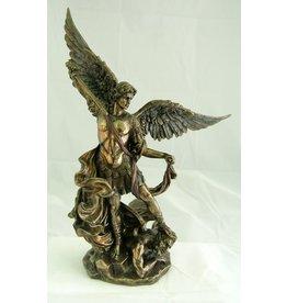 """Goldscheider of Vienna 10"""" St. Michael Statue Bronze"""