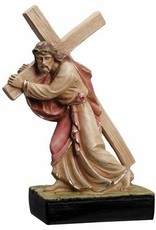Christ with Cross Statue 10""