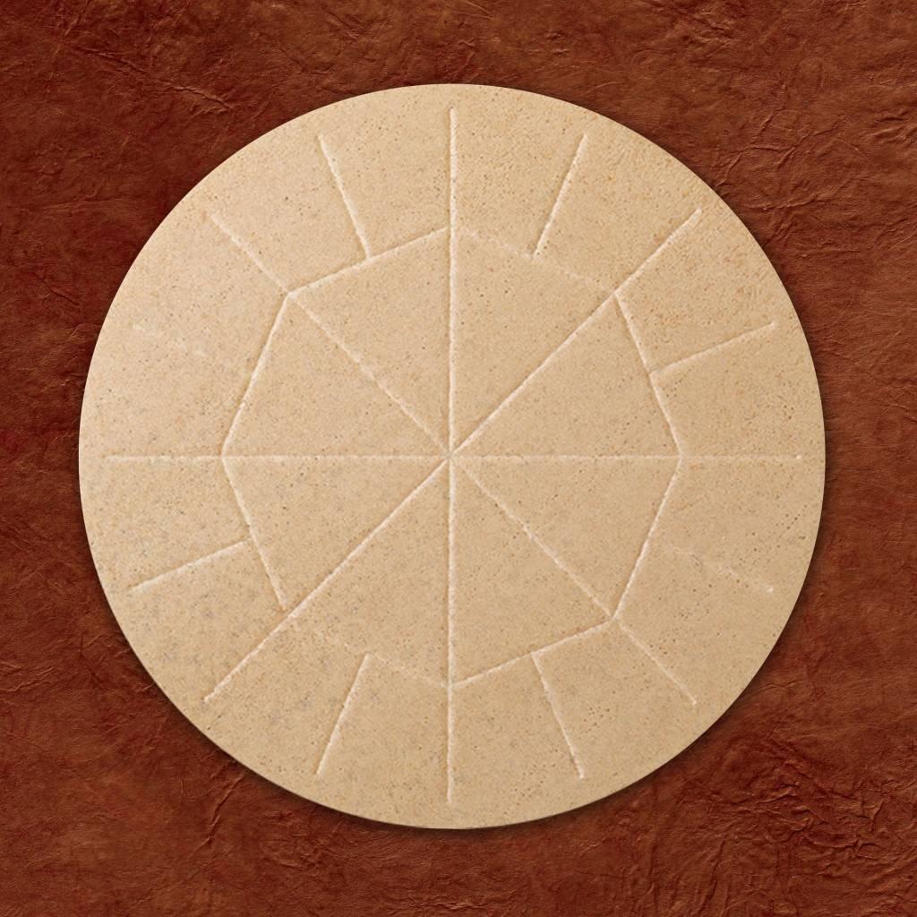 "Altar Bread 5 3/4"" (146mm) Whole Wheat - Box of 25"
