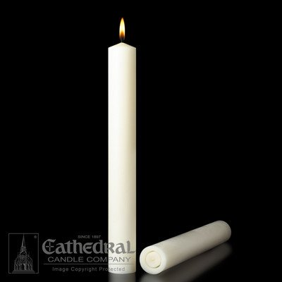 """Cathedral Candle Co. 51% Beeswax 2""""x9"""" Single Candle"""