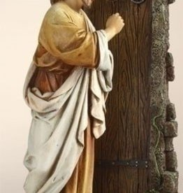 "12"" Jesus Knocking Statue"