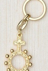 Gold Finger Rosary Keyring