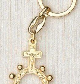 Lumen Mundi Gold Finger Rosary Keyring