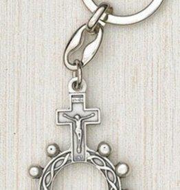 Silver Finger Rosary Keyring