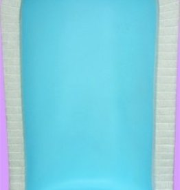 "Space Age Plastics Grotto for 24"" Statue - Granite Finish Shell - Blue Inside"