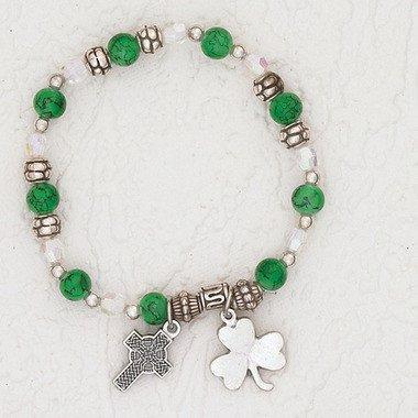 Green Shamrock Bracelet